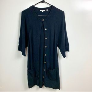 VINCE short sleeve cardigan sweater button down S